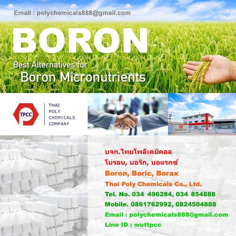โบรอน, Boron, บอริกแอซิด, Boric acid, บอแรกซ์, Borax